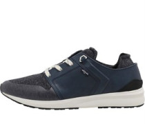Mens Black Tab Runner Trainers Blue