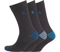 3er Pack Socken /Blau/Himmelblau