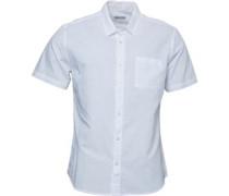 Baumwolle/Leinen Hemd mit kurzem Arm