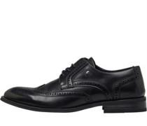 Brogue Schuhe Schwarz