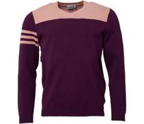 Mens Golf Club 3 Stripes V-Neck Sweater Purple/Peach