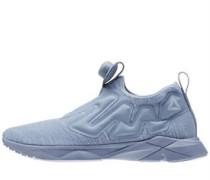 Pump Supreme Distressed Sneakers Blau-Grau