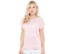 Womens Clara Burn Out Crew Neck T-Shirt Blossom Pink