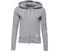 Womens Essentials Zip Hoody Grey/White