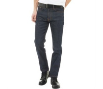 Rinse Wash Jeans in Slim Passform Dunkel