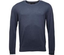 Pullover mit Rundhalsausschnitt Denimmeliert