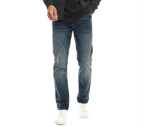 Weft PA Jeans mit geradem Bein Verblasstes Denim