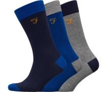 Cason Drei Pack Socken Navy