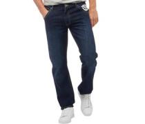 Studding Jeans in Slim Passform Dunkel Gewascht
