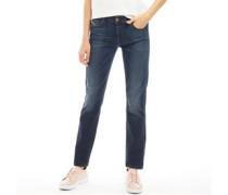 Sandy Jeans mit Bündchen Dunkelblau