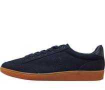 Hopman Twill Leder Sneakers Navy