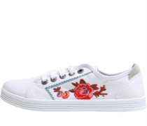 Womens Fiona Canvas Trainers Off White