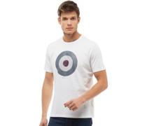 Karo Target T-Shirt Weiß
