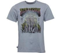 Rasta Roach Grafik T-Shirt meliert