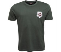 Badge Back Print T-Shirt Khaki