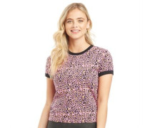 Ariana Leopard Druck T-Shirt Rosa