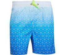 Gradient Print Badeshorts Blau