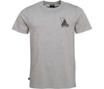 Reaper Grafik T-Shirt Graumeliert