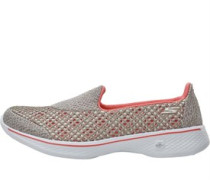 Womens GOwalk 4 Kindle Trainers Taupe/Coral