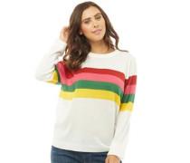 Tutti Frutti Rainbow Stripe Pullover mit Rundhalsausschnitt