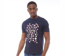 Pin Badge T-Shirt Dunkelnavy
