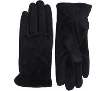 Mille Leder Handschuhe Schwarz