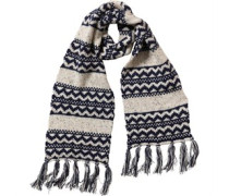 Nepp Fairisle With Tassels Schal Navy