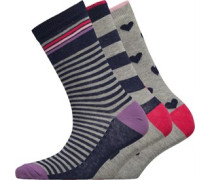 Drei Pack Socken Mehrfarbig