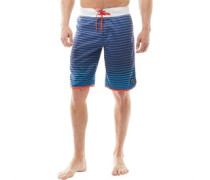 Mens Printed Board Shorts Grey/Turq