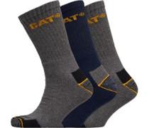 Workwear Drei Pack Socken Navy