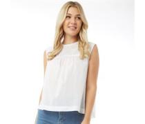 Evie Bluse mit kurzem Arm Weiß