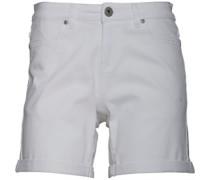 Stretch Twill Shorts Weiß