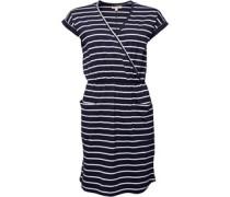 Garn Gefärbt Kleid Navy