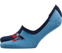 168SF Low Rise Sportswear Logo Zwei Pack Socken meliert