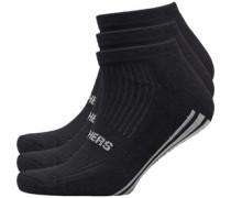 Kansas Drei Pack Socken Schwarz