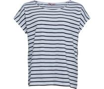 Garn Gefärbt Mit Streifen T-Shirt