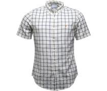Mens Johnson Slim Fit Short Sleeve Shirt Ecru