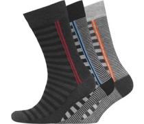 Morston Drei Pack Socken Schwarz