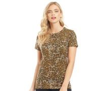 Disleo T-Shirt Braunes Tiermuster