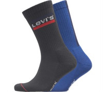 120 Series Vertical Sportswear Logo Zwei Pack Socken Kobaltblau