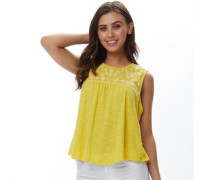 Isabelle Embroidered Top Gelb