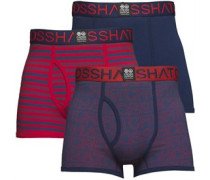 Borderline Drei Pack Boxershorts in lose Passform