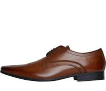 Mit Streifen Schuhe Dunkelbraun