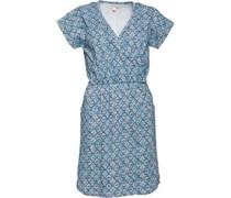 Tile Print Kleid Blau