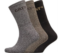 Drei Pack Socken Braunmeliert