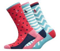 Drei Pack Socken Rosa