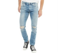 Glenn JJ Original JOS 166 Jeans in lose Passform Verblasstes Denim