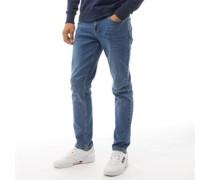 Daubeney Jeans mit zulaufendem Bein Verblasstes Indigo