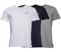None Label 3 Packung T-Shirt Navy