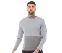 Fabric Mix Sweatshirt Mittelmeliert